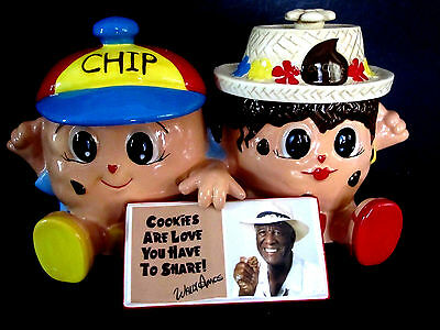 Wally Amos Chip and Cookie Jar Collector Canister Double First in Series