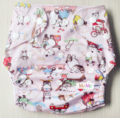 Baby Boy Girl Cloth Diaper One Size Adjustable Hip Snaps Nappy Pocket Cover H26