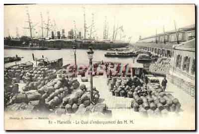 VINTAGE POSTCARD Marseille the Dispatching Platform of the MM