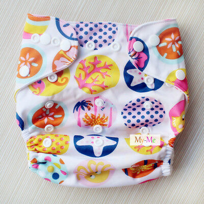 Baby Boy Girl Cloth Diaper One Size Adjustable Hip Snaps Nappy Pocket Cover H24