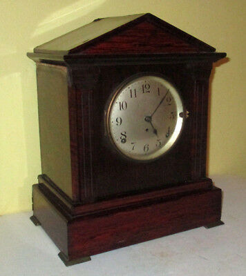 Antique SETH THOMAS Sonora 4-Bells Chime RED ADAMANTINE MANTEL CLOCK - Vintage