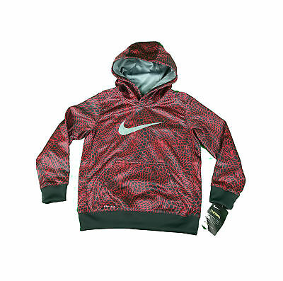 bc212981c9d3 NEW Nike Therma Dri-Fit Youth Boy s Size 4 Hoodie Sweatshirt 86B498-R24 Red