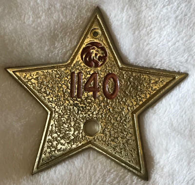 Collectables brass plate hotel room number MGM Grand.