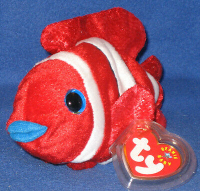 TY JESTER the CLOWNFISH BEANIE BABY - MINT with MINT TAGS