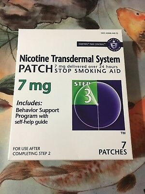 Habitrol® Nicotine Transdermal System Patch Step 3  (7 Patches) 7 mg Exp 10/2019