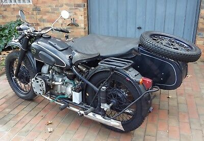 1957 Soviet M72 Ural Sidecar Outfit. Classic motorcycle.not chiang jang.