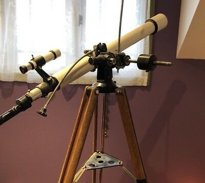 Vintage Tasco 60mm Telescope with wooden tripod and box