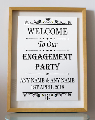 Engagement Party Inspirational Wedding Quote Poster Art Print Decor Gift Wall