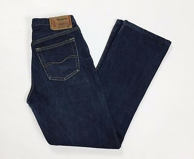 Pepe jeans london hot mom jeepster W28 tg 42 denim zampa vintage blu usato T2335