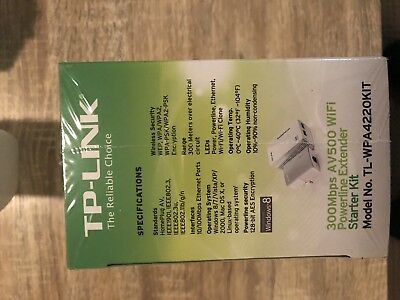 TP-LINK TL-PA4010PKIT AV500 Powerline Adapter with AC Pass Through Starter Kit