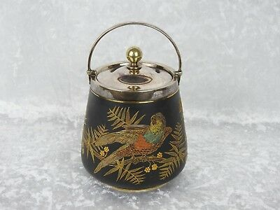 Antique Royal Worcester Aesthetic Movement Biscuit Barrel - Circa 1890
