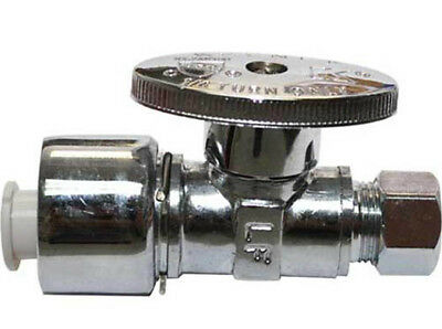 Keeney K2622PCPOLF 5/8 X 3/8 in OD 1/4 Turn Quick Lock Angle Supply Line Valve
