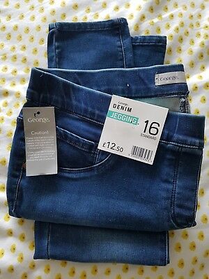 Denim Jeggings - Size 16 - George