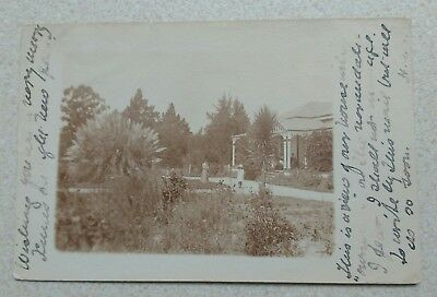 Old Vintage Real Photo Postcard China India House & Family Somewhere in Colonies