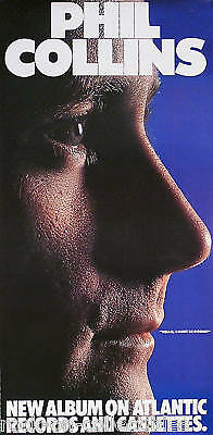 Genesis Phil Collins 1982 Hello, I Must Be Going Poster Original