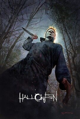 Halloween Movie REPRODUCTION Horror Poster, SDCC 2018 Michael Myers Print Bill