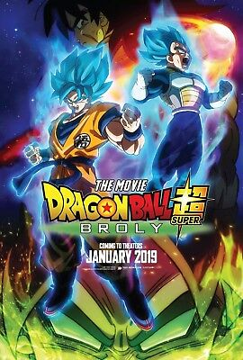 1 Dragon Ball Super Broly The Movie 2018 Poster Anime Reproduction English Print