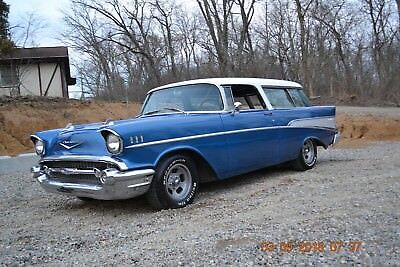 1957 Chevrolet Nomad 2 DOOR NOMAD 1957 NOMAD WITH 327 4SPD SOLID DRIVER ALL THERE FACTORY ONYX BLACK CAR