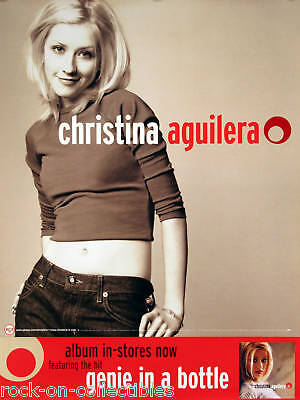 Christina Aguilera 1999 Self Titled Promo Poster Original