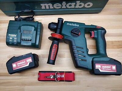 Perforateur sans fil 18V Metabo BHA 18 LTX  2X4Ah SDS Plus