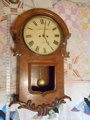 very rare double cable fusee  ANTIQUE wall clock german or english,  32 inches