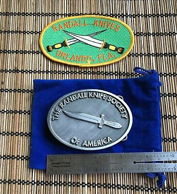 Randall Made Knives Pewter Belt Buckle And Patch