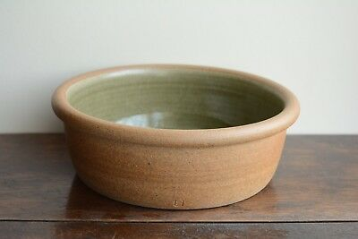 Pickering studio pottery hand made ash celadon glazed oven/serving dish