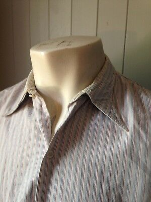 Vtg 1930s French Spearpoint Hirondelle  Collar Overhead Shirt