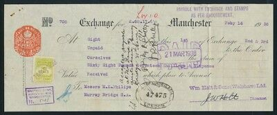 """Australia: G.B. 1938 Martins Bank """"RARE £A68/17/6 1ST OF EXCHANGE"""" + Duty Stamps"""