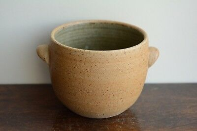 Pickering studio pottery hand made ash celadon glazed soup bowl