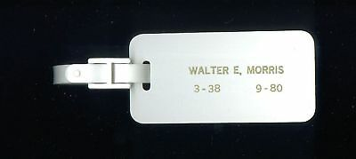 National Airlines Early Employee Plastic Baggage TAG Sun King Club RARE
