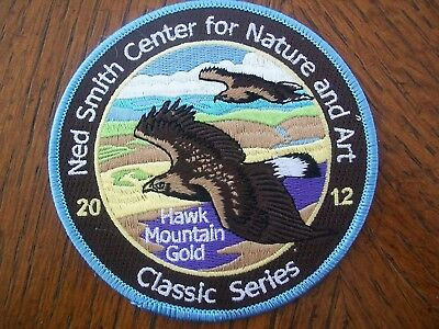 """Pa  Pennsylvania Game Related  Ned Smith  Patch 4""""  2012   Hawk Mountain Gold"""