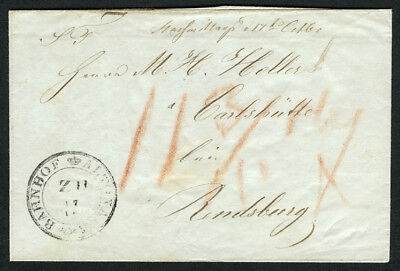 SH Brief - Bahnhof Altona - Rendsburg 1845