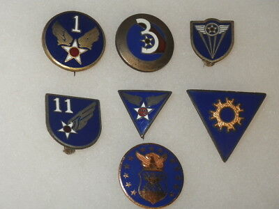 Original WWII US Army Air Forces Patch DI Set - 7 Items