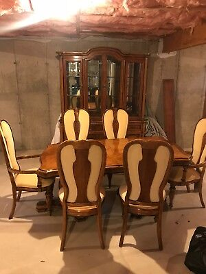 Burnhardt Dining Room Set & China Cabinet & Table Extension