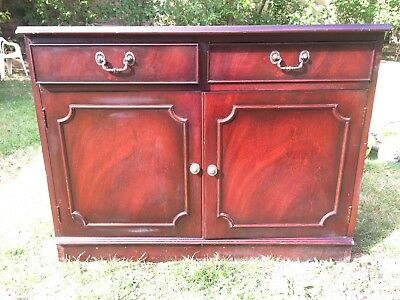 Antique Mahogany sideboard / chest with drawers & shelf storage