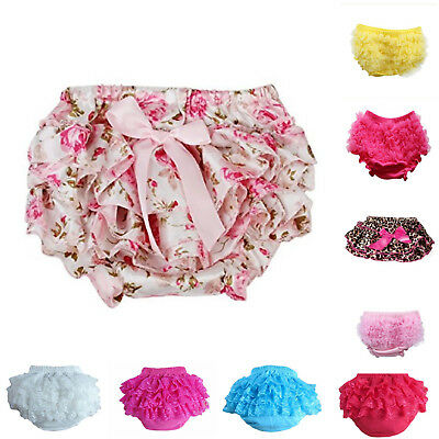 Pants For Baby Girl Cute Newborn Lace Ruffle Bloomers Nappy Cover Shorts Panties