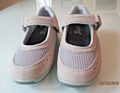 Womens' Orthofeet Grey Mesh Chattenooga  Mary Janes Size 6