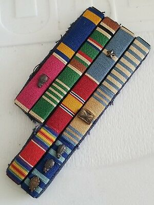 WWII US Army AAC B17 Pilot Legion of Merit Air Medal Ribbon Bar Japanese Made