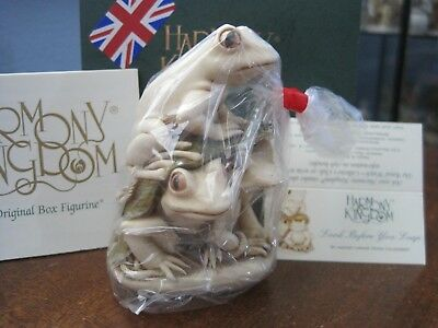 Harmony Kingdom Look Before You Leap Frogs UK Made Box Figurine Factory Bagged