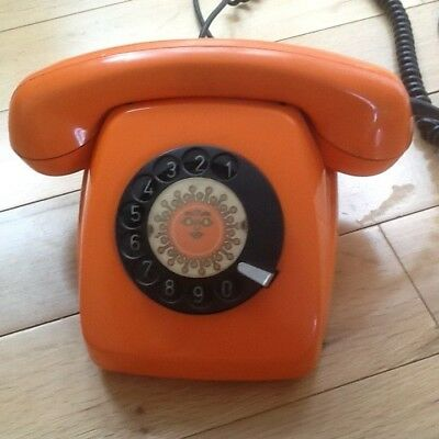 Vintage telephone bright ORANGE