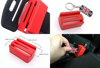 Belt Buckle Guard Car Seat Secure Child Lock Red Baby Safety UK
