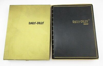 1969 Daily Dilly Risque Cartoons & Jokes Leatherette Calendar Book Unused w box