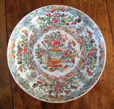 Clobbered ? 19th or 18th Century Colorful Chinese Famille Rose Plate