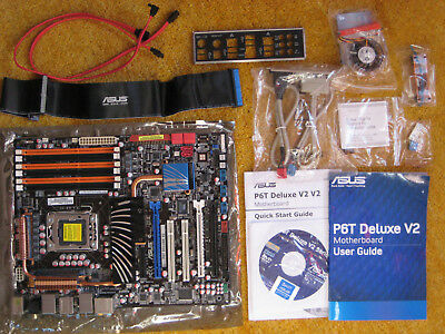 ASUS P6T DELUXE V2 X58 ICH10R DDR3 LGA 1366 ATX Motherboard Mainboard in OVP