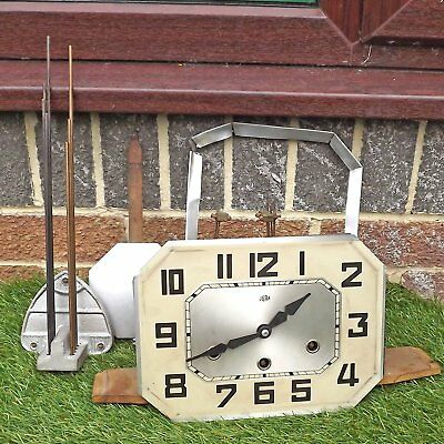 Jura Art Deco Westminster Chime Wall Clock 8 Rod French Movement Spares / Repair