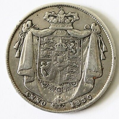 Very Nice Antique George IIII 1836 Solid Silver Half Crown Coin