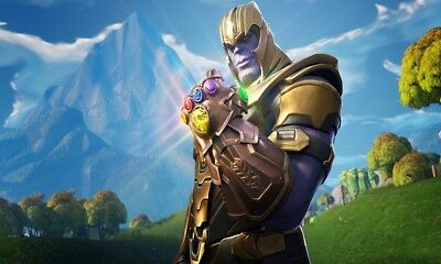 Fortnite Game Thanos With Infinity Stones WALL ART CANVAS FRAMED OR POSTER PRINT