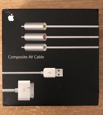 SEALED APPLE Composite AV Cable w/ USB Power Adapter - MB129LL/A - FREE SHIPPING