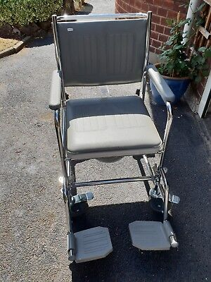 Aidapt Linton VR166S Mobile Commode & Footrests
